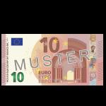 € 10 Verrechnungsscheck