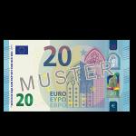 20 Euro Verrechnungsscheck