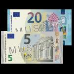 25 Euro Verrechnungsscheck