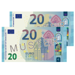 € 40 Verrechnungsscheck